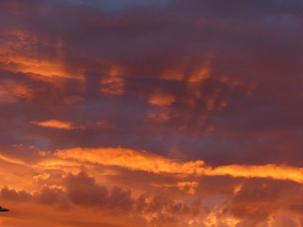 When a sunset's too intense. . .
